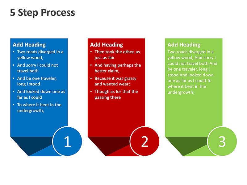 Business Workflow Steps - PowerPoint Slide