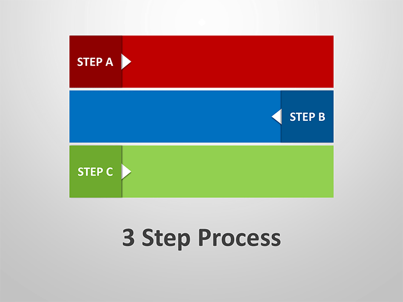 3 Step Process Diagram - Editable PowerPoint Presentation