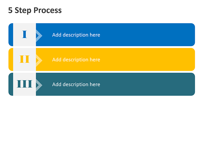 3 Step Business Chart - PowerPoint Slide