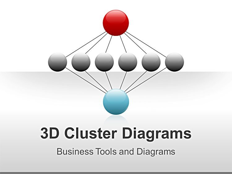 3D Cluster Diagram PPT Presentations