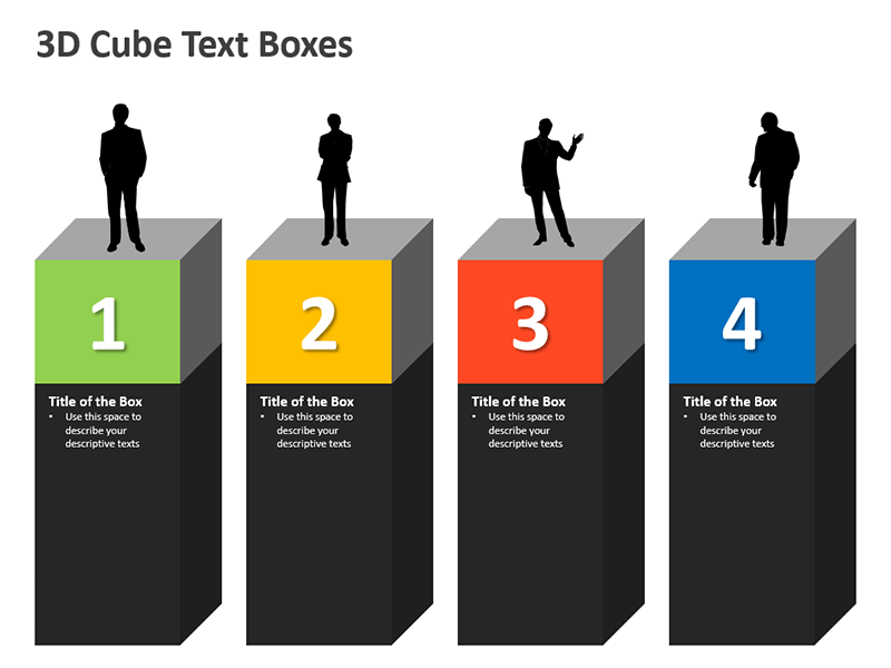 3D Cubes Shapes PPT