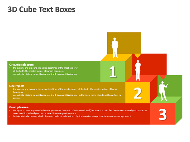 3D Cube Steps for Corporate Presentation - PowerPoint Slide