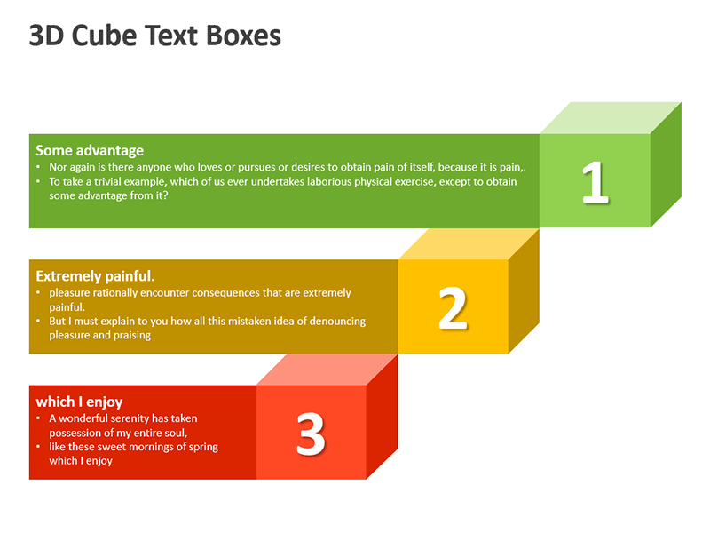 3D Cubes Shape for Marketing Presentation - PowerPoint Slide