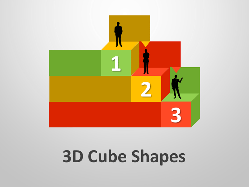3D Cube Shapes:  Editable PowerPoint Presentation