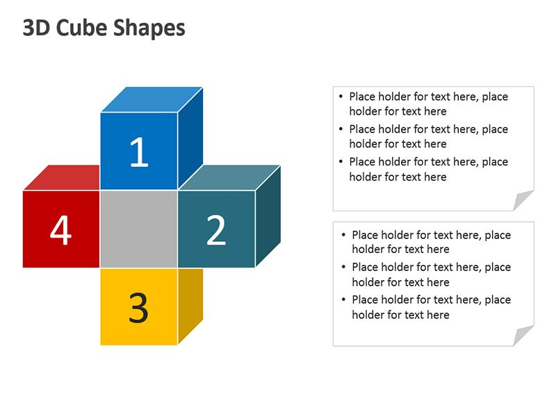 3D Blocks: Editable PPT Shapes