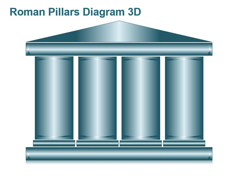 Roman Temple Shapes PowerPoint Slide