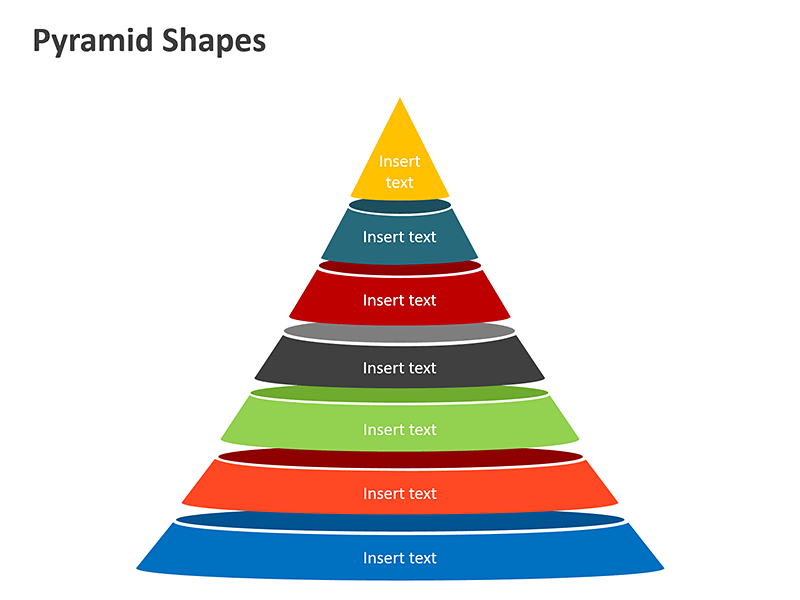 Sectioned Pyramid Shapes PowerPoint Presentation