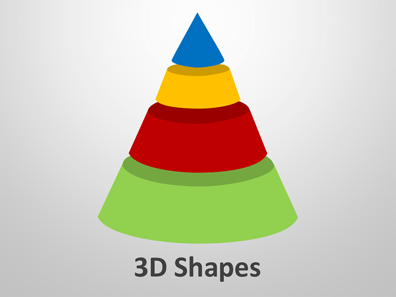 3D Shapes - Presentation Graphics - Editable PowerPoint Slides