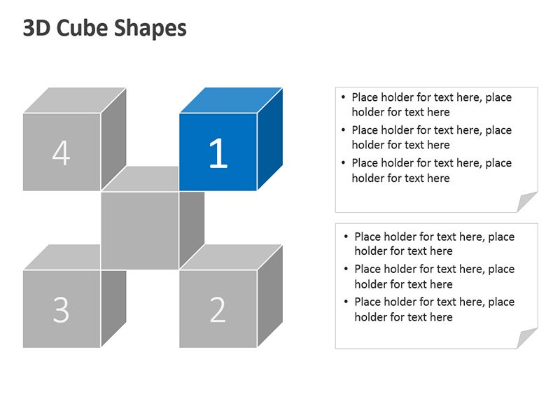 3D Cubes Vector Graphic PPT Slide