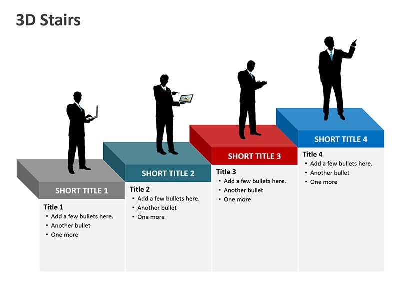 Stairs Diagram for PPT Illustration