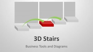 Editable PowerPoint Slides on 3D Stairs Diagram