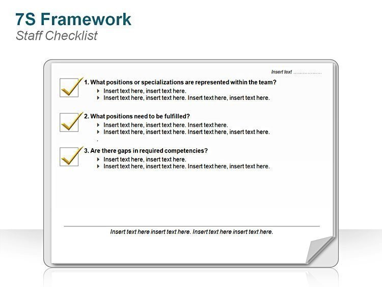Editable PPT 7S Framework Staff Checklist
