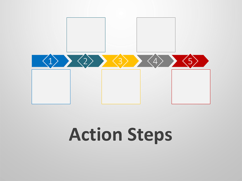 Action Steps - Editable PowerPoint Graphics