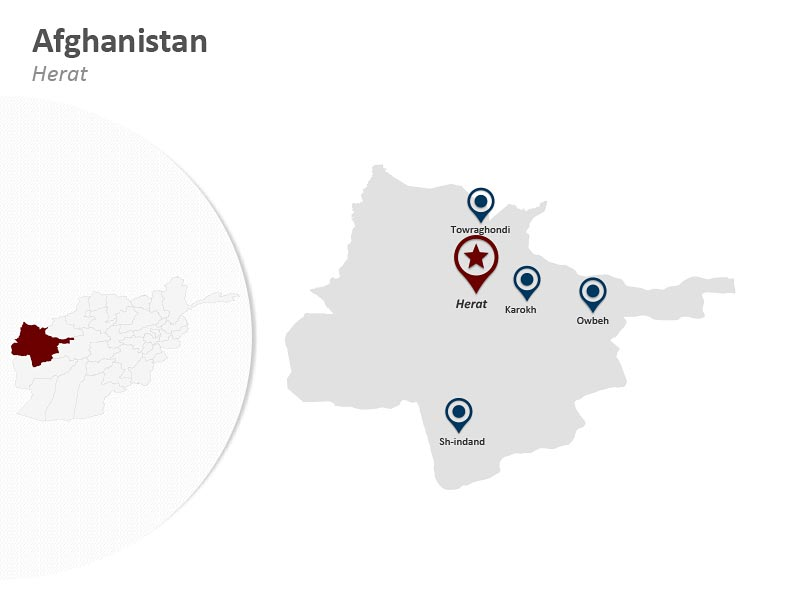 Editable Afghanistan Map - Herat