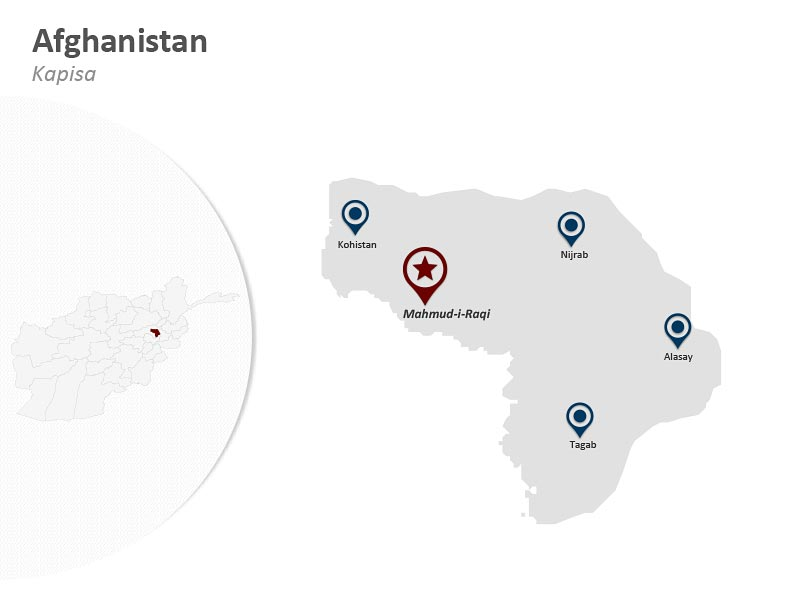 Map of Afghanistan - Kapisa