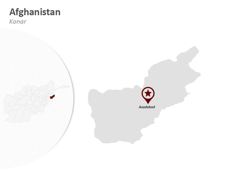 Customize Afghanistan Konar Map