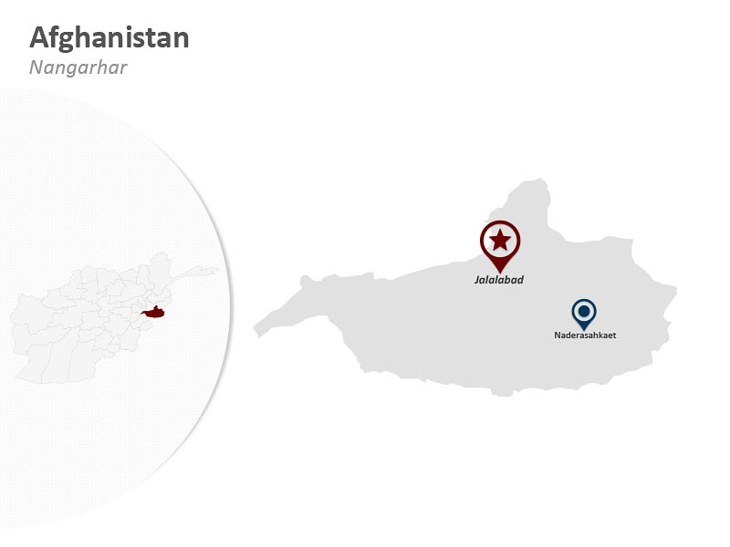Map of Afghanistan - Nangarhar