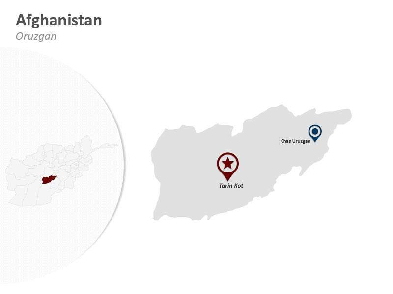 Customize Afghanistan Oruzgan Map