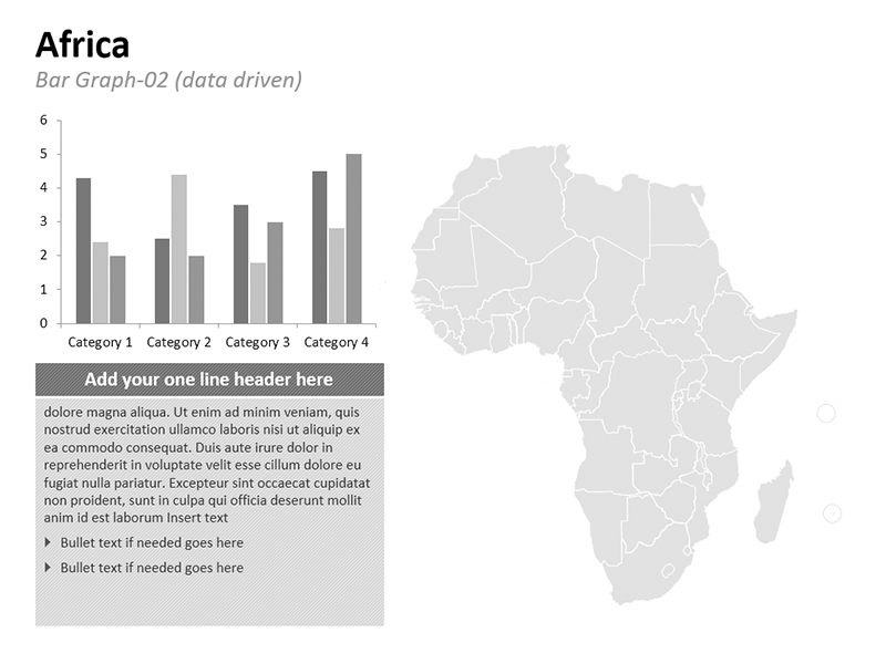 Editable PPT Africa Bar Graph