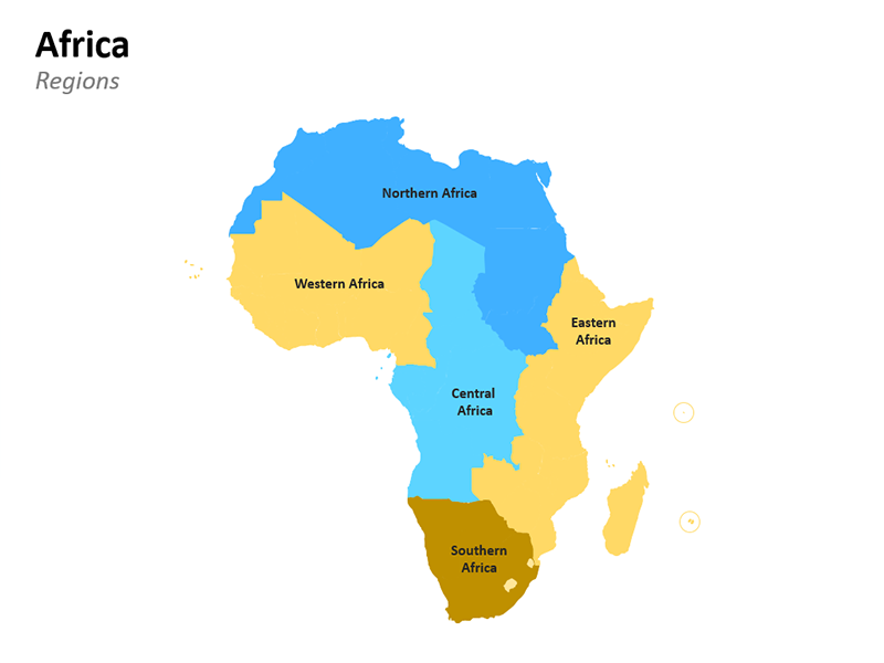 Regional Map of Africa PowerPoint