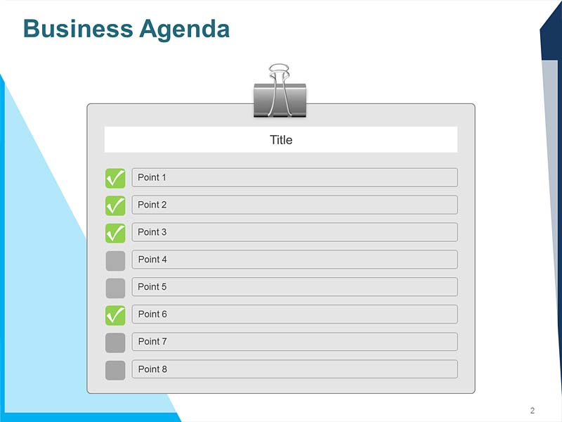 Corporate Agenda PPT Template
