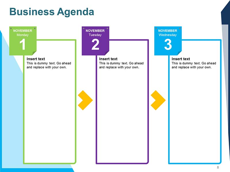 Business Meeting Agenda PPT Template