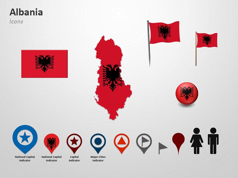 Albania Cliparts PowerPoint Presentations Map