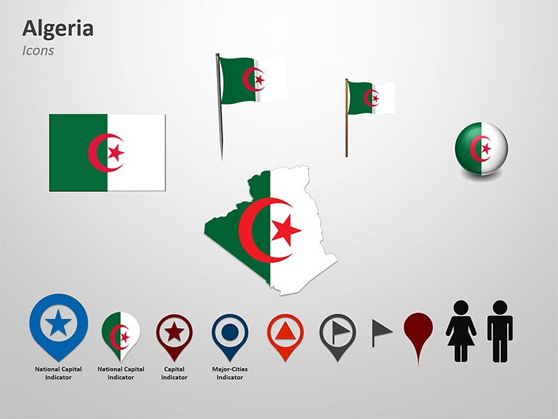 Clipart for Algeria PowerPoint Map