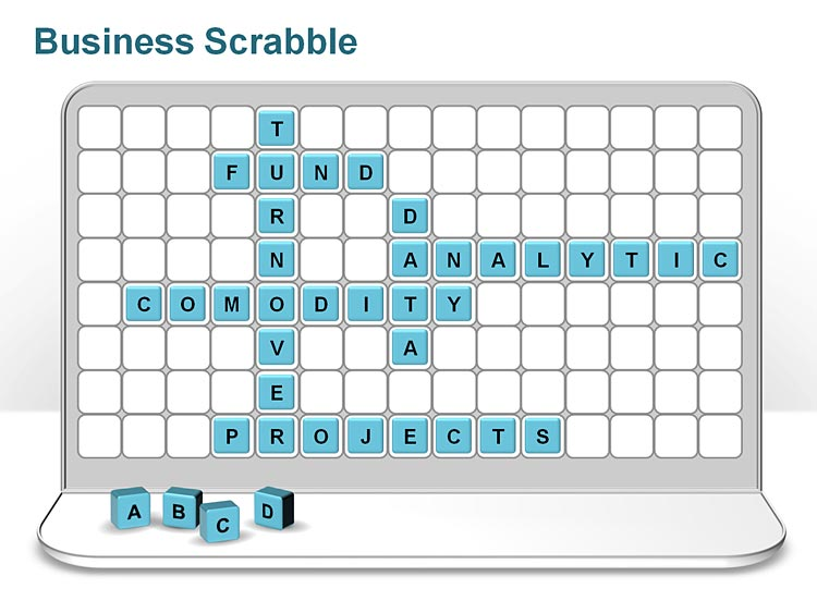 Scrabble PowerPoint Template for Business