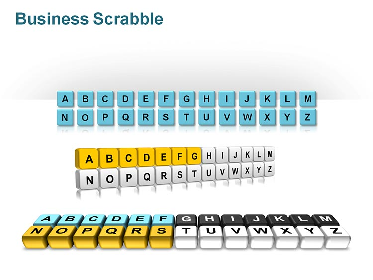 Business Scrabble Tiles PowerPoint Slides