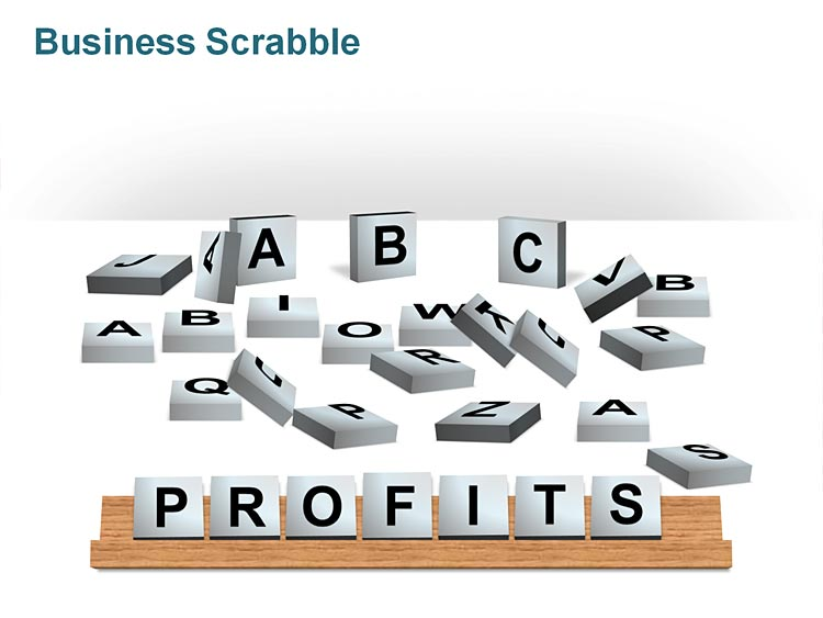 Scrabble Tiles - Business PPT