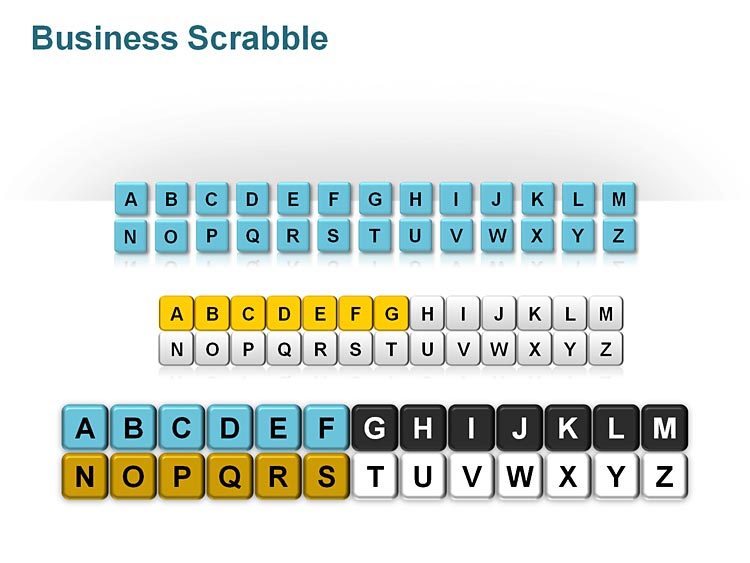 Scrabble Letters Tiles PowerPoint Slides