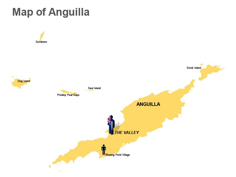 Anguilla Major Cities Density Population PPT Map