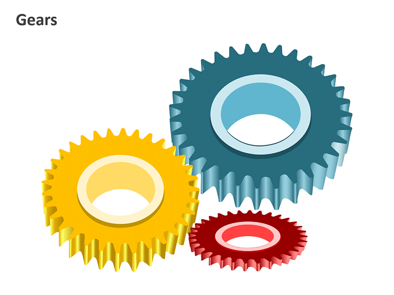 PPT Metal Cog Image - PowerPoint Slide