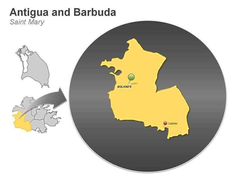 PowerPoint Map of Saint Mary - Antigua and Barbuda