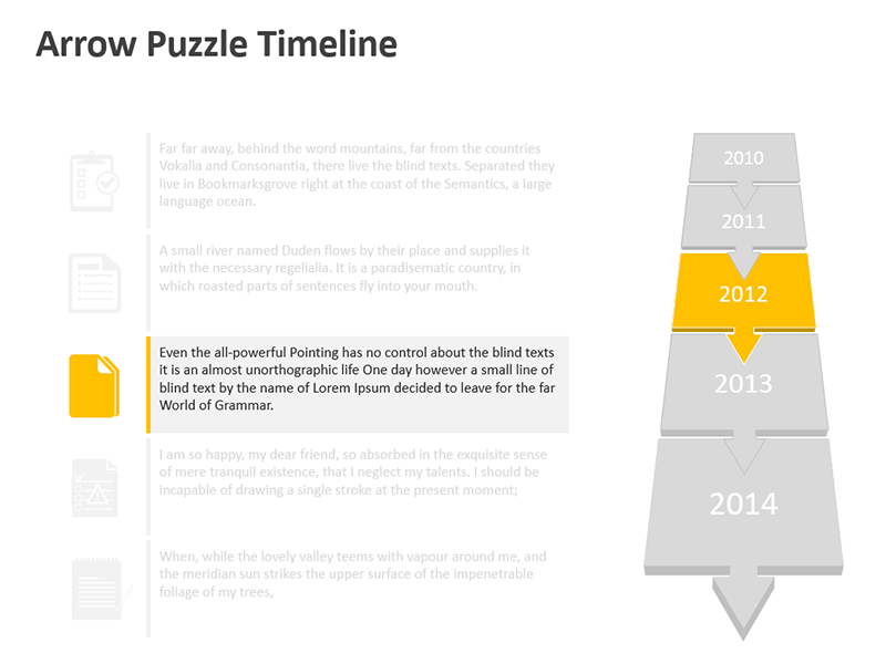 Timeline Presentation Template - Editable PPT Slide