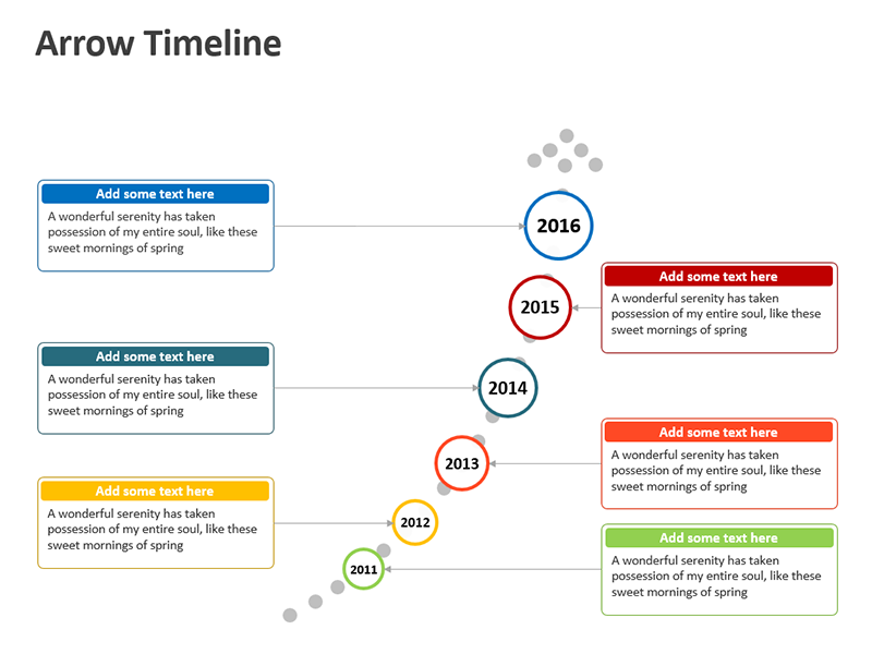 Marketing Timeline Model - PowerPoint Slide