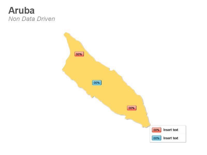 Aruba Business Data PowerPoint Map