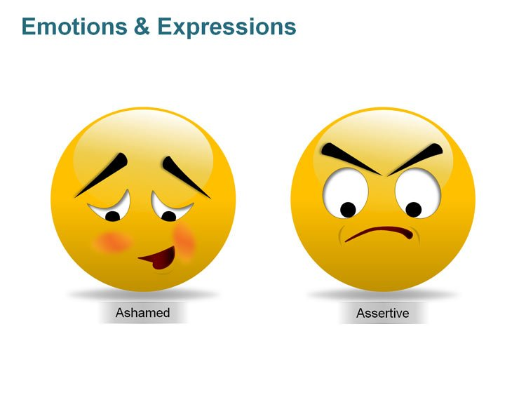 Editable PowerPoint Images - Smiley with Expressions