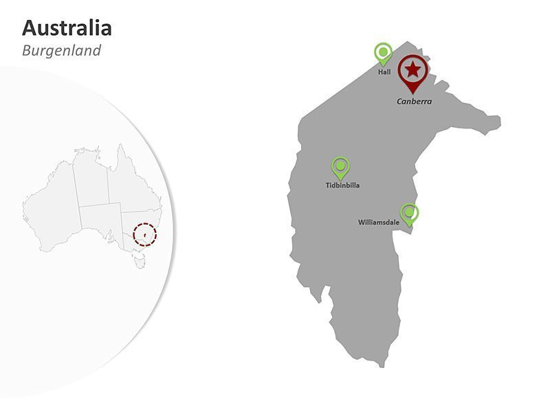 Australian Capital Territory PowerPoint Map