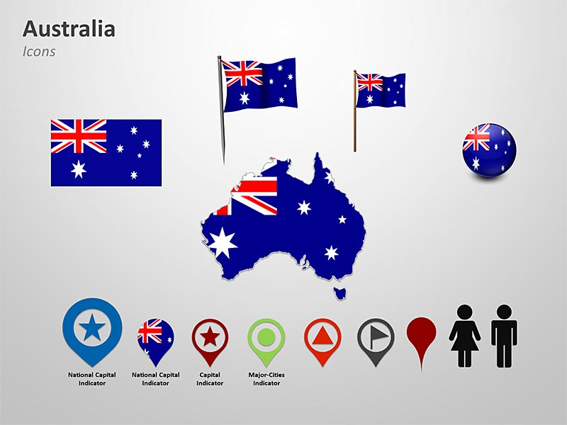 Map of Australia PowerPoint Clip arts
