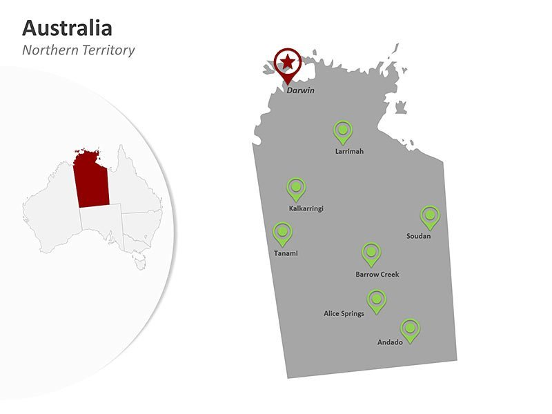Australia PPT Map - Northern Territory