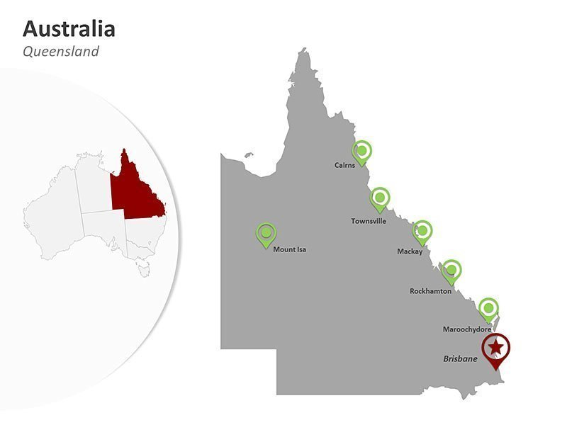 Australia Queensland PPT Map