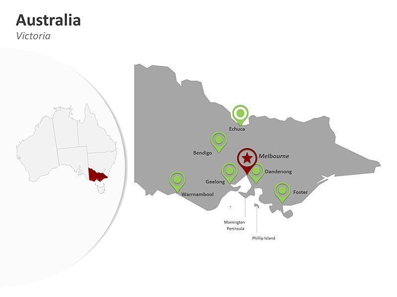 Australia Victoria PowerPoint Map