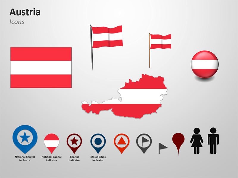 Clipart for Austria Map  - PPT