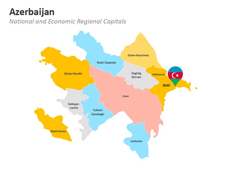 PPT Regional Map of Azerbaijan