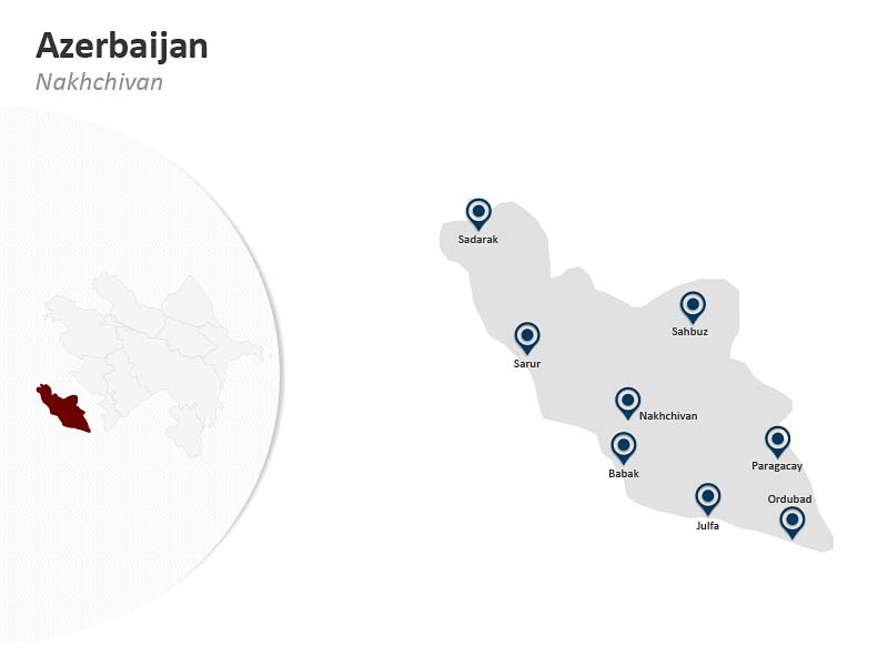 PowerPoint Map of Azerbaijan Nakhchivan