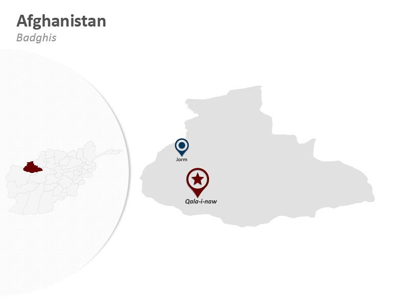 Afghanistan - Badghis Map