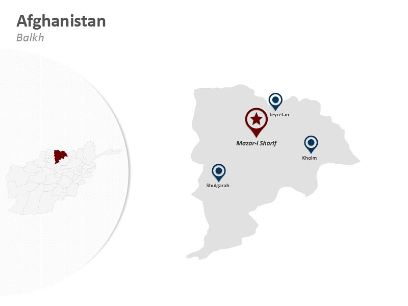 Map of Afghanistan - Balkh