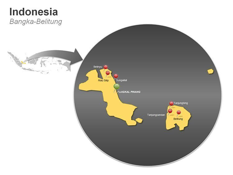 Indonesia Bangka - Belitung Map